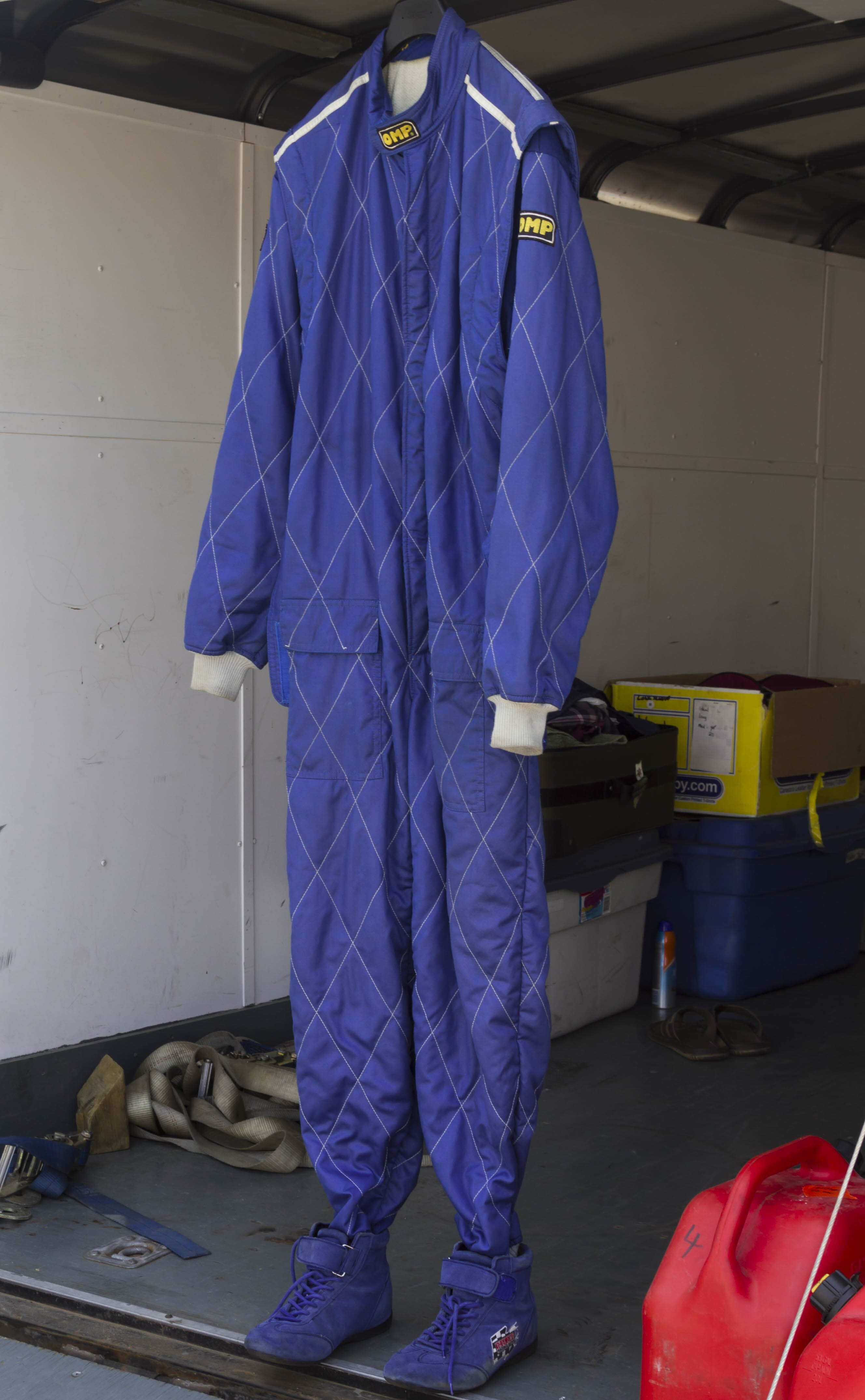Racing suit is ready for action